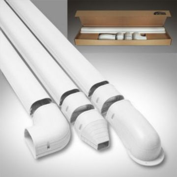 Fortress LDK122W 12' Lineset Wall Duct Kit - White