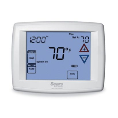 "Sears 1F95-1277SE - Sears Branded Big Blue 12"" Display, Touchscreen Digital Thermostat"