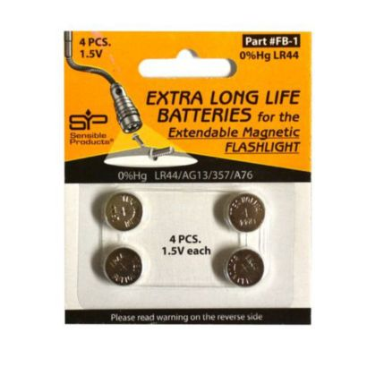 Sensible Products FB-1 - Batteries, 4 Pack For EMF1 LED Extendable Magnetic Flashlight