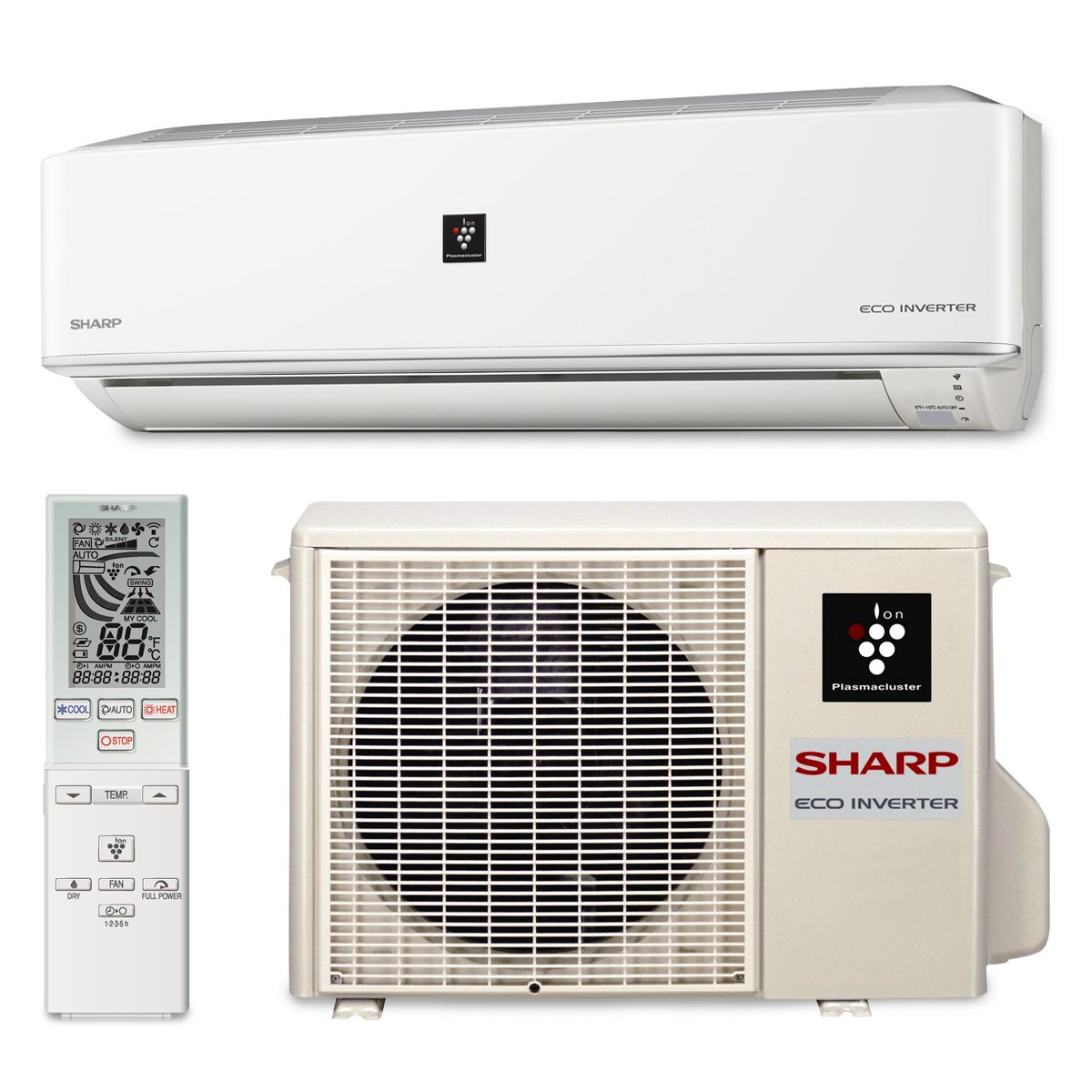 Sharp a x09pu sharp a x09pu 9000 btu 22 seer wall mount ductless mini split air conditioner heat pump 208 230v biocorpaavc Choice Image