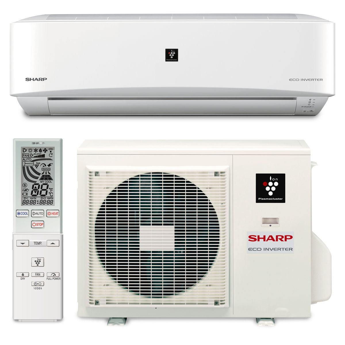 Sharp a x24pu sharp a x24pu 24000 btu 18 seer wall mount ductless mini split air conditioner heat pump 208 230v biocorpaavc Choice Image