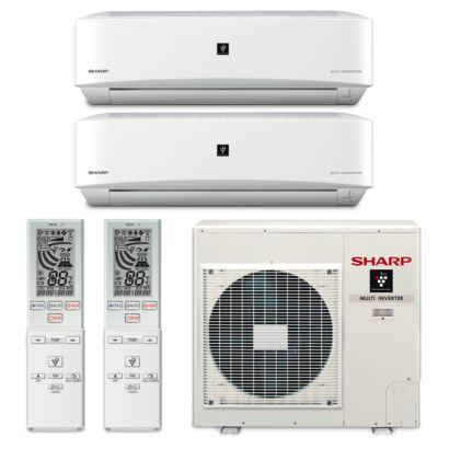 Sharp A-X4M30PU-2WF-00 - 30,000 BTU Dual-Zone Wall Mount Mini Split Air Conditioner Heat Pump 208-230V (15-18)