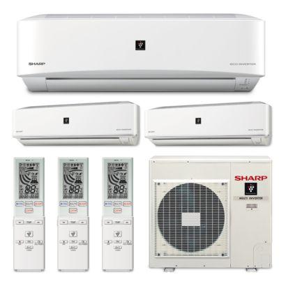 Sharp A-X4M30PU-3WF-06 - 30,000 BTU Tri-Zone Wall Mount Mini Split Air Conditioner Heat Pump 208-230V (9-9-18)