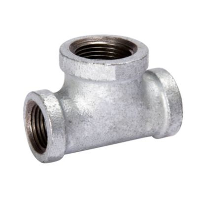 """Southland 510-434 - 3/4"""" x 1/2"""" x 3/4"""" Reducing Tee Galvanized 150Lb. Malleable Iron Fitting"""