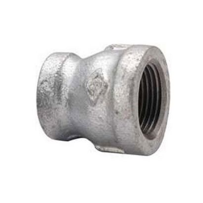"""Southland 511-343 - 3/4"""" x 1/2"""" Reducing Coupling Galvanized 150Lb. Malleable Iron Fitting"""