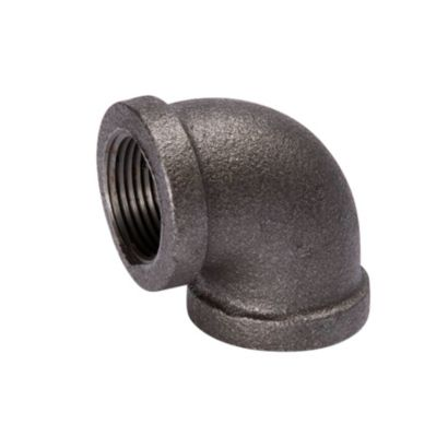 "Southland 520-007 - 1-1/2"" 90° Elbow Black 150Lb. Malleable Iron Fitting"