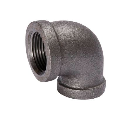 """Southland 520-143 - 3/4"""" x 1/2"""" 90° Reducing Elbow Black 150Lb. Malleable Iron Fitting"""