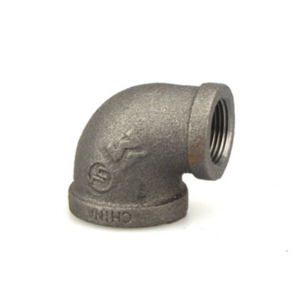 """Southland 520-154 - 1"""" x 3/4"""" 90° Reducing Elbow Black 150Lb. Malleable Iron Fitting"""