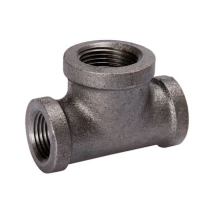"Southland 520-434 - 3/4"" x 1/2"" x 3/4"" Reducing Tee Black 150Lb. Malleable Iron Fitting"
