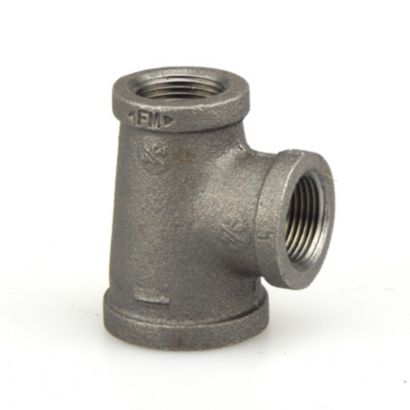 "Southland 520-544 - 1"" x 3/4"" x 3/4"" Reducing Tee Black 150Lb. Malleable Iron Fitting"