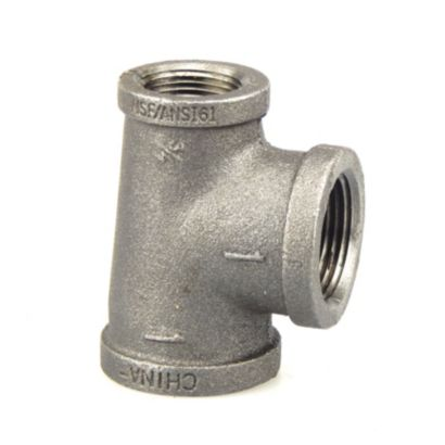 """Southland 520-754 - 1"""" x 1"""" x 3/4"""" Reducing Tee Black 150Lb. Malleable Iron Fitting"""