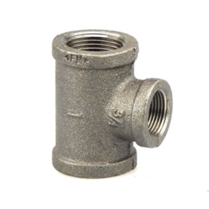 """Southland 520-794 - 1"""" x 3/4"""" x 1"""" Reducing Tee Black 150Lb. Malleable Iron Fitting"""