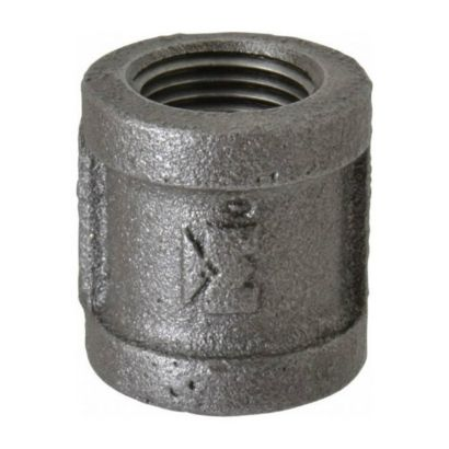 """Southland 521-207 - 1-1/2"""" Coupling Black 150Lb. Malleable Iron Fitting"""