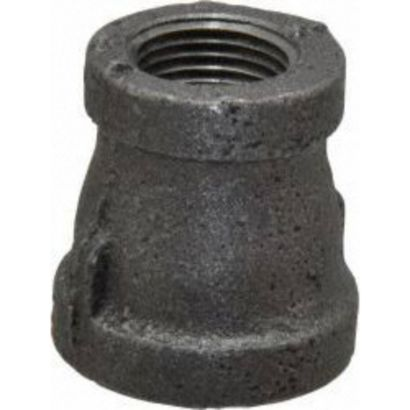 "Southland 521-332 - 1/2"" x 3/8"" Reducing Coupling Black 150Lb. Malleable Iron Fitting"