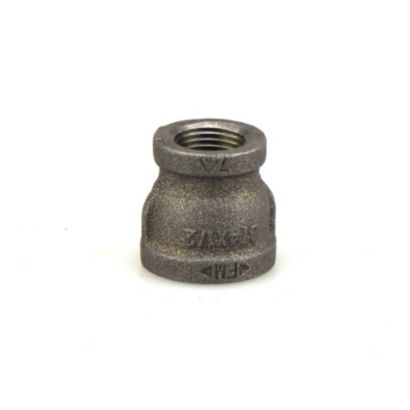"Southland 521-343 - 3/4"" x 1/2"" Reducing Coupling Black 150Lb. Malleable Iron Fitting"