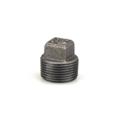 "Southland 521-805 - 1"" Square Head Plug Black 150Lb. Malleable Iron Fitting"