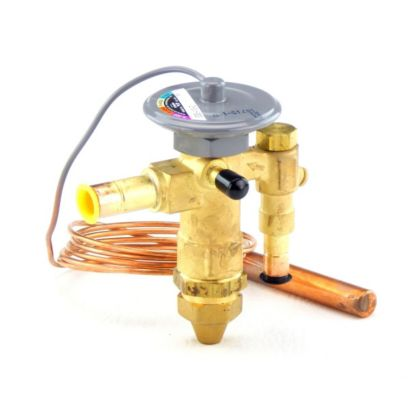 "Sporlan 164379 - Thermostatic Expansion Valve EGSE-1/2-Z 1/2, R-404A Commercial Refrig 5' 3/8"" x 1/2"" ODF Angle"