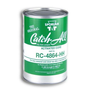 Sporlan 404380 - Drier Core RC-4864-HH 48 cu in Activated Charcoal Core Fits C-480 thru C-19200 & RSF Shells, Molded Desi