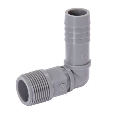 "Streamline 04343 - Poly 3/4"" PVC Combination Insert x MPT 90° Elbow"