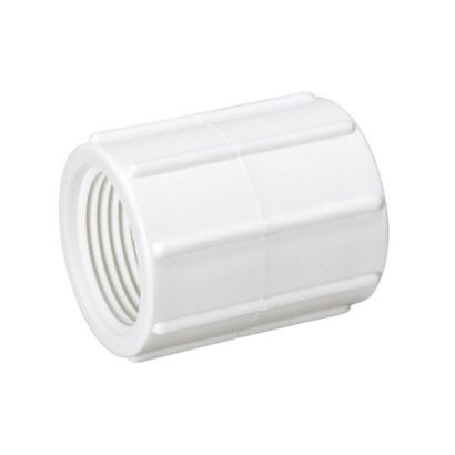 """Streamline 430-007 - 3/4"""" PVC Schedule 40 Pressure Fitting - FPT x FPT Coupling"""