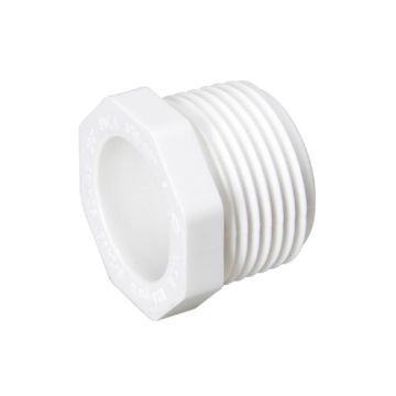 "Streamline 450-007 - 3/4"" PVC Schedule 40 Pressure Fitting - Threaded MPT Plug"