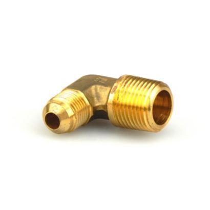"Streamline A 04886 - 3/8"" x 1/2"" 90° Elbow Brass Flare to NPTFE Half Union Fitting, E1-6D"