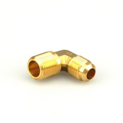 "Streamline A 04887 - 1/2"" x 1/2"" 90° Elbow Brass Flare to NPTFE Half Union Fitting, E1-8D"