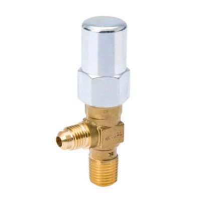 """Streamline A 13503 - 3/8"""" x 3/8"""" Non-Backseating NPTFE Inlet to Flare, Packed Angle Line Valve"""