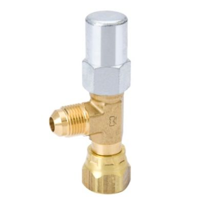 "Streamline A 17429 - 1/4"" x 1/4"" Non-Backseating Internal Swivel Flare to Flare, Packed Angle Line Valve, Plastic Seal Cap"