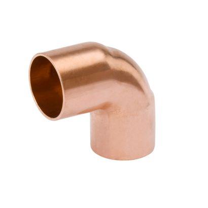 "Streamline W 02049 - 1-1/8"" OD x 7/8"" OD Short Radius Reducing 90° Elbow, Copper Fitting"