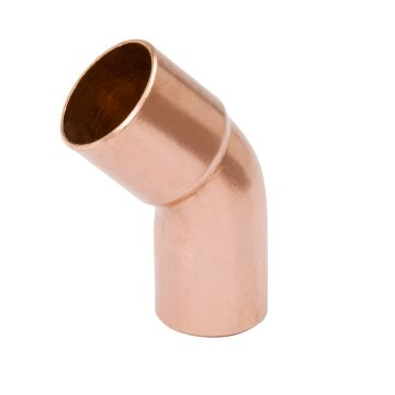 "Streamline W 03350 - 1-3/8"" OD FTG x C 45° Elbow, Copper Fitting"