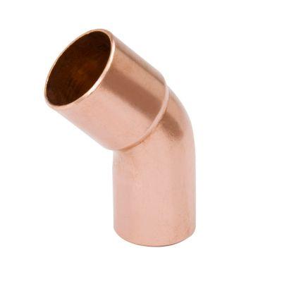 """Streamline W 03359 - 2-1/8"""" OD FTG x C 45° Elbow, Copper Fitting"""