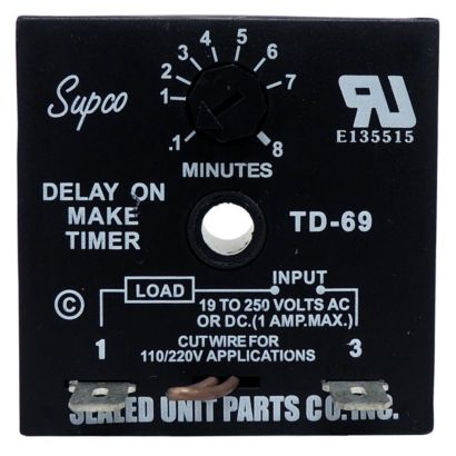 Supco TD69 - Time Delay on Make Timers (DOM)