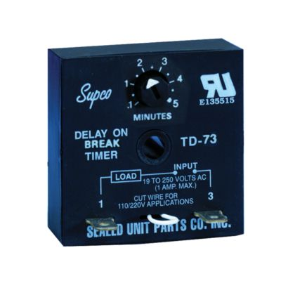 Supco TD73 - Time Delay on Break Timers (DOB)