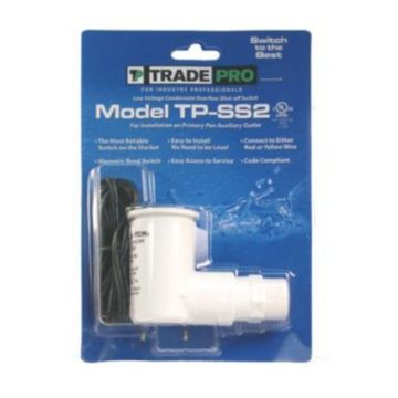 TradePro 97634 - TradePro - Safe-T-Switch SS2 Primary Pan Secondary Drain outlet Condensate shutoff switch