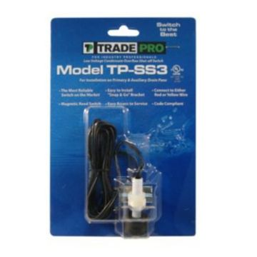 TradePro 97641 - Safe-T-Switch SS3 Primary and Secondary Drain outlet, Condensate shutoff switch