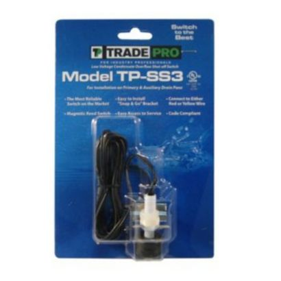 TRADEPRO® 97641 - Safe-T-Switch SS3 Primary and Secondary Drain Outlet, Condensate Shutoff Switch