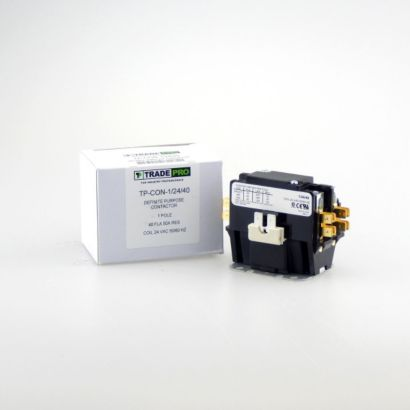 TRADEPRO® TP-CON-1/24/40 - 1P 24V 40A Contactor W/Shunt