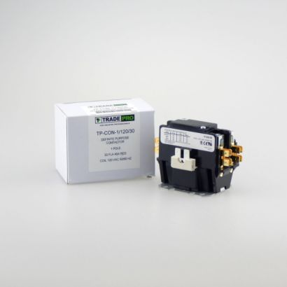 TRADEPRO® TP-CON-1/120/30 - 1 Pole 120V 30 Amp Contactor