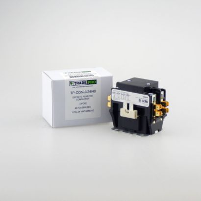 TRADEPRO® TP-CON-2/24/40 - 2P 24V 40A Contactor W/Lugs & Cover