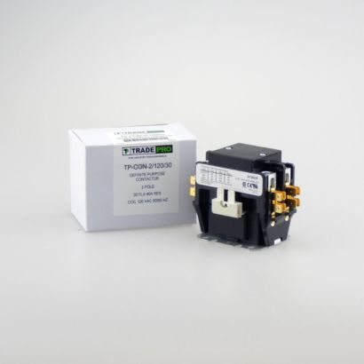 TRADEPRO® TP-CON-2/120/30 - 2 Pole 120V 30 Amp Contactor