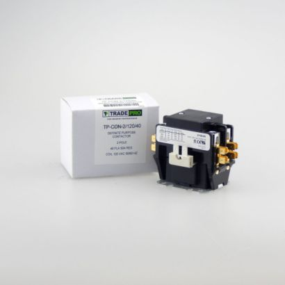 TRADEPRO® TP-CON-2/120/40 - 2 Pole 120V 40 Amp Contactor