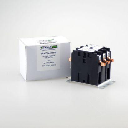 TRADEPRO® TP-CON-3/24/40 -  3P 24V 40A Contactor
