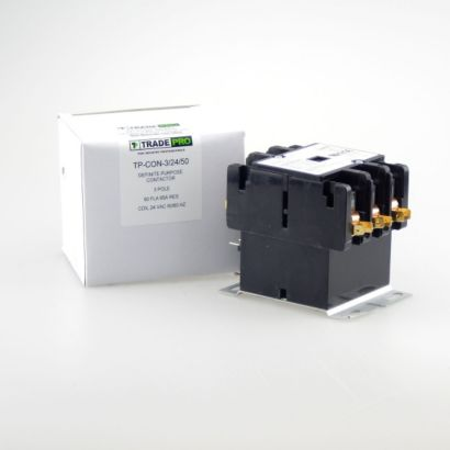 TRADEPRO® TP-CON-3/24/50 -  3 Pole 24V 50 Amp Contactor