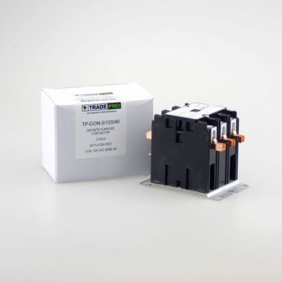 TRADEPRO® TP-CON-3/120/40 - 3 Pole 120V 40 Amp Contactor
