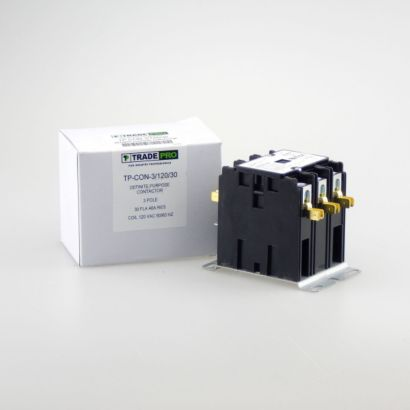 TRADEPRO® TP-CON-3/240/30 - 3 Pole 240V 30 Amp Contactor