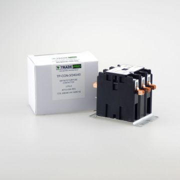 TRADEPRO® TP-CON-3/240/40 -  3 Pole 240V 40 Amp Contactor