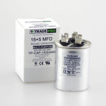 TRADEPRO® HCKS150D050R440217Z - 15+5MFD 440V Round Run Capacitor