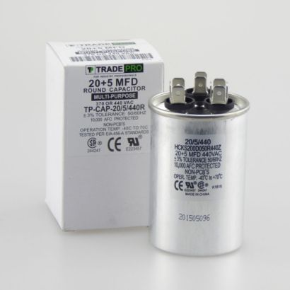 TRADEPRO® HCKS200D050R440217Z - 20+5 MFD 440V Round Run Capacitor