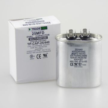TradePro TP-CAP-25/440 - Run Capacitor, 25/440 VAC, Oval